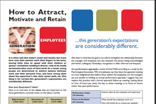 How to Attract, Motivate and Retain Generation Y Employees?