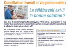 Conciliation travail et vie personnelle: Le télétravail est-il la bonne solution?
